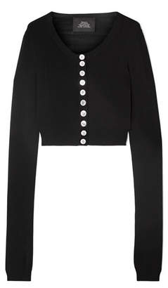 Marc Jacobs Cropped Knitted Cardigan - Black
