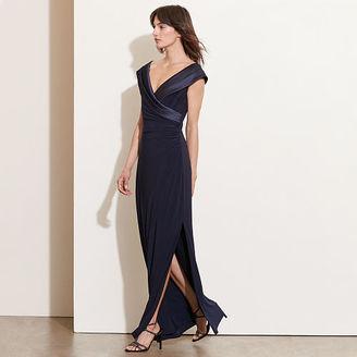 Ralph Lauren Satin-Neckline Jersey Gown $180 thestylecure.com