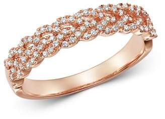 Bloomingdale's Diamond Braided Band Ring in 14K Rose Gold, 0.30 ct. t.w. - 100% Exclusive