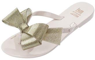 Mini Melissa Mel Harmonic Bow Thong Sandal, Kids