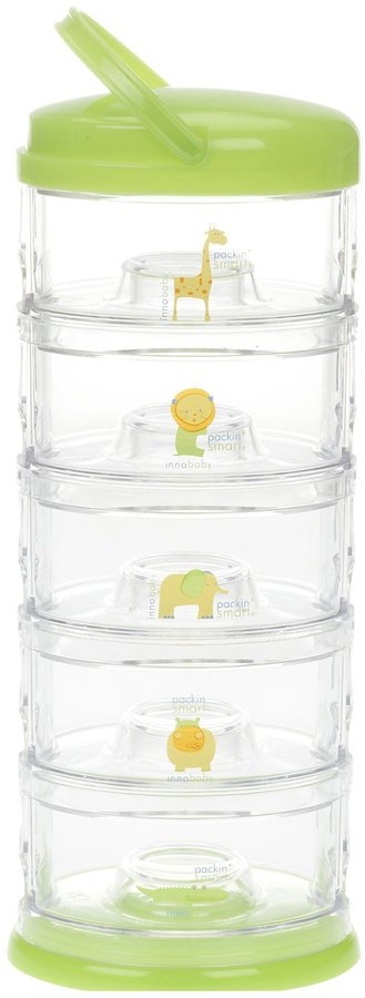 Innobaby Stackable Storage Container - Packin' SMART - 5 Tier - Green - 8 oz each tier
