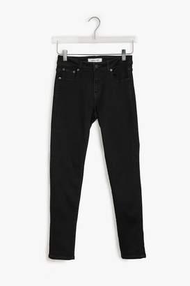 Genuine People Low Rise Black Stretch Skinny Jeans
