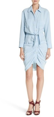 Women's Veronica Beard Sierra Ruched Shirtdress $495 thestylecure.com