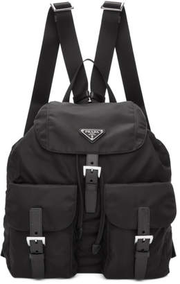 Prada Black Nylon Backpack