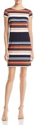 Adrianna Papell Striped T-Shirt Dress