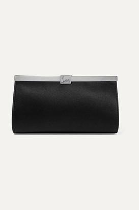 Christian Louboutin Palmette Embellished Satin Clutch - Black