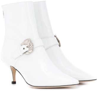 Dorateymur Saloon patent leather ankle boots