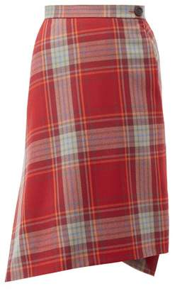 Vivienne Westwood Infinity Tartan Wool Skirt - Womens - Red Multi