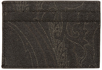 Etro Black Paisley Classic ID Card Holder