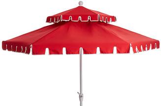 One Kings Lane Poppy Two-Tier Patio Umbrella - Red