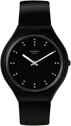 Swatch Skin Silicone-Strap Analogue Watch