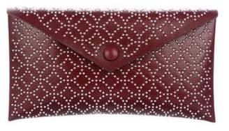 Alaia Arabesque Studded Envelope Clutch