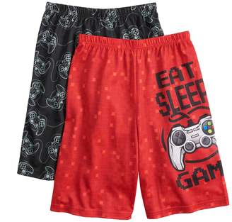 Up Late Boys 4-16 Up-Late Game Controller 2-Pack Sleep Shorts