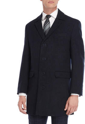 Calvin Klein Wool-Blend Slim Fit Overcoat