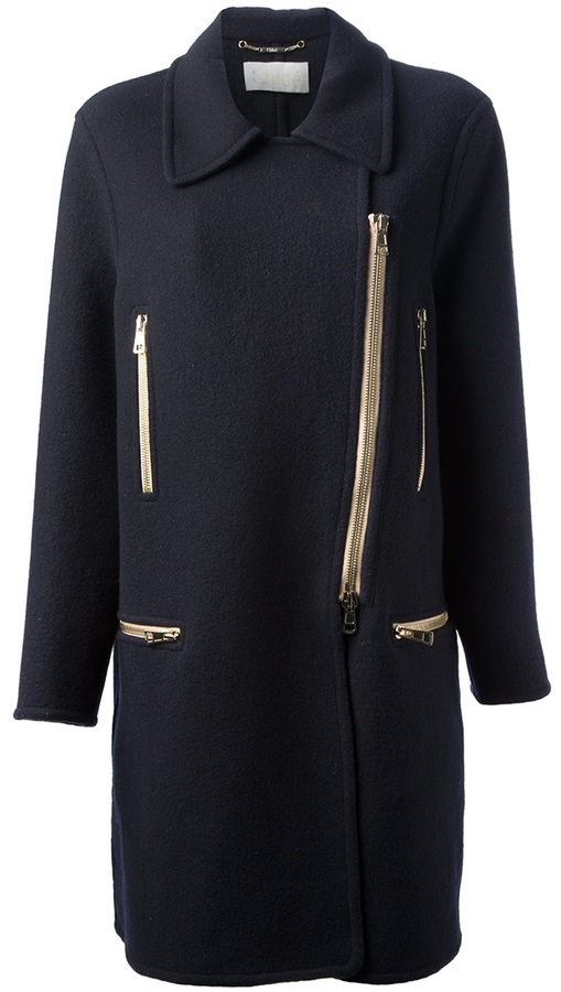 Chloé zip detail coat