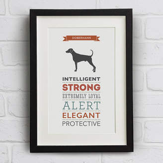 Breed Well Bred Design Dobermann / Doberman Dog Traits Print