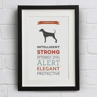 Breed Well Bred Design Dobermann / Doberman Dog Traits Print