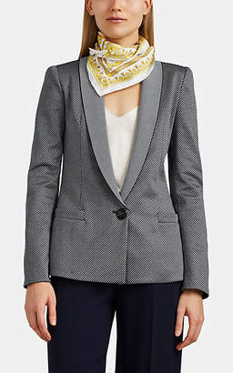 Giorgio Armani Women's Houndstooth Cotton-Blend One-Button Blazer - Navy