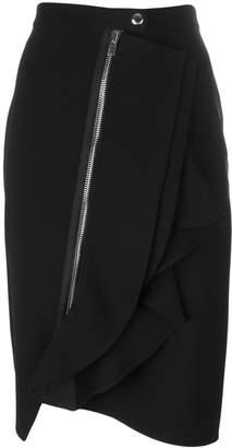 Givenchy (ジバンシイ) - Givenchy アシンメトリー ラッフルスカート