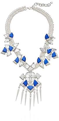 m. haskell Fashion Jewelry Blue Multi-Faceted Stone Statement Necklace
