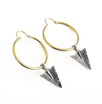 Malia Designs Silver Arrow Hoops