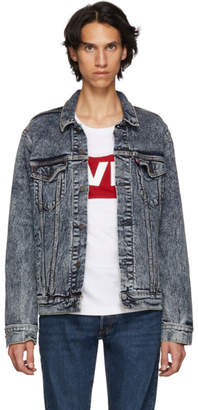 Levi's Levis Blue Bleach Trucker Denim Jacket