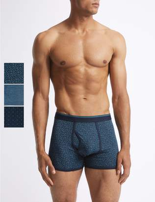 Marks and Spencer 3 Pack Cotton Rich Cool & Fresh Trunks