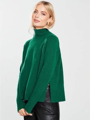 Whistles Funnel Neck Wool Knit Jumper