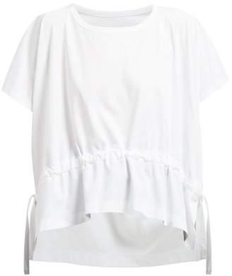 Issey Miyake Drawstring Cotton Jersey T Shirt - Womens - White