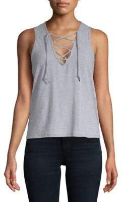 Betsey Johnson Bleach-Washed Tank Top