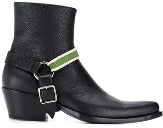 Calvin Klein buckle detail boots