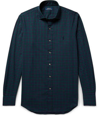 Polo Ralph Lauren Black Watch Checked Brushed Cotton-twill Shirt