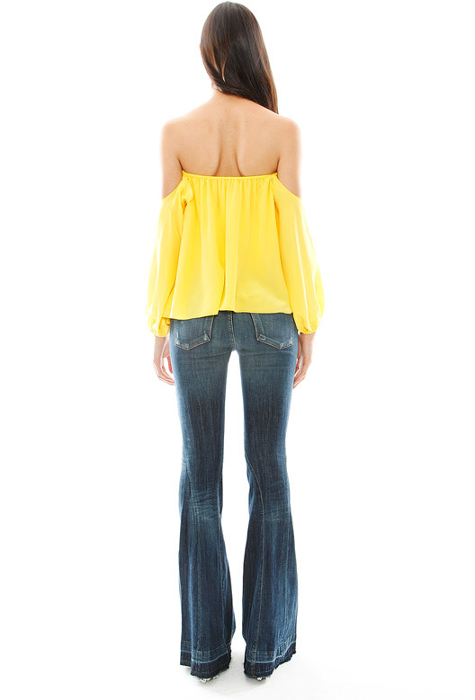 Boulee Audrey Long Sleeve Top in Aurora Yellow