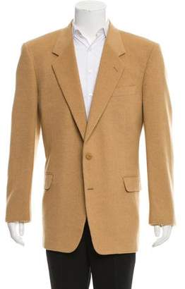 Hickey Freeman Camel Hair Two-Button Blazer