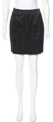 Magaschoni Patterned Mini Skirt