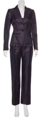 Max Mara Linen & Silk-Blend Mid-Rise Three-Piece Pantsuit