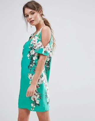 Oasis Botanical Print Cold Shoulder Shift Dress $68 thestylecure.com