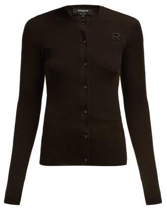 19379843bba2b Rochas Logo Applique Cotton Cardigan - Womens - Black
