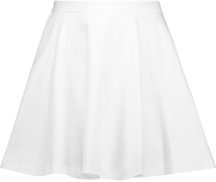 Alice + Olivia Alice + Olivia Alice + Olivia Blaise Trapeze pleated cotton-blend twill mini skirt