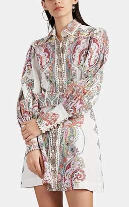 Zimmermann Women's Ninety-Six Paisley Linen Shirtdress