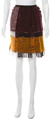 Anna Sui Wool Distressed Skirt