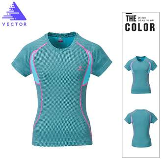 VECTOR OUTDOOR VECTOR Gym Riding Cycling Running Camping Hiking Womens Short Quick Dry T-Shirt