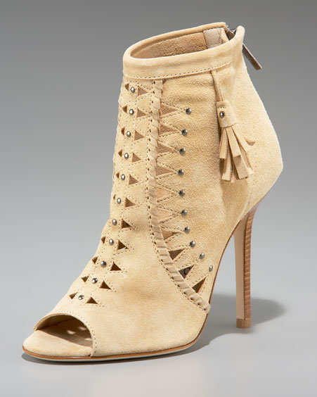 Jimmy Choo Suede Perforated Ankle Boot