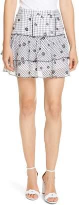 LoveShackFancy Amy Tiered Cotton Miniskirt