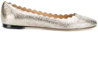 Chloé lauren glitter ballerinas