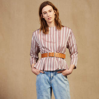 Sandro Long-Sleeved Striped Top