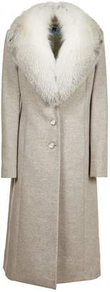 Blumarine Fur Trimmed Coat