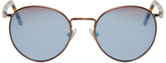 Persol Brown Tortoiseshell Round Sunglasses
