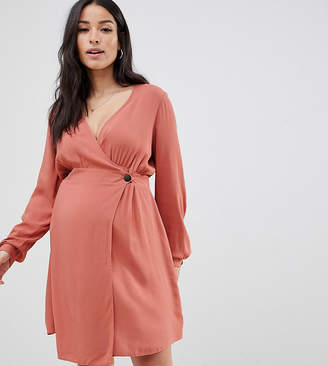 Asos DESIGN Maternity casual wrap mini dress