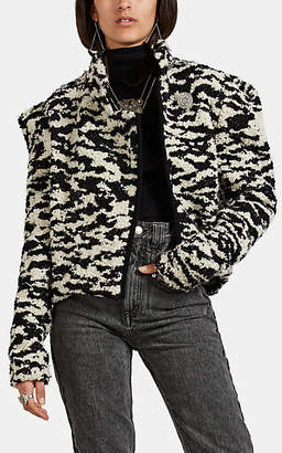Isabel Marant Women's Daphne Abstract-Pattern Wool-Blend Bouclé Jacket